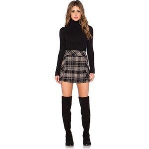 FP | Zip it to Plaid Mini Skirt in Black Combo 6